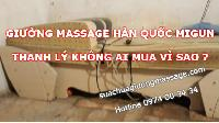 Giường massage Hàn Quốc Migun thanh lý không ai mua
