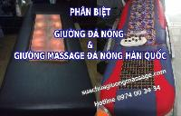 Phân biệt giường đá nóng và giường massage Hàn Quốc