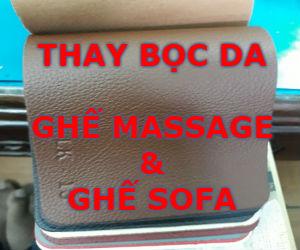 Thay da ghế massage tại nhà